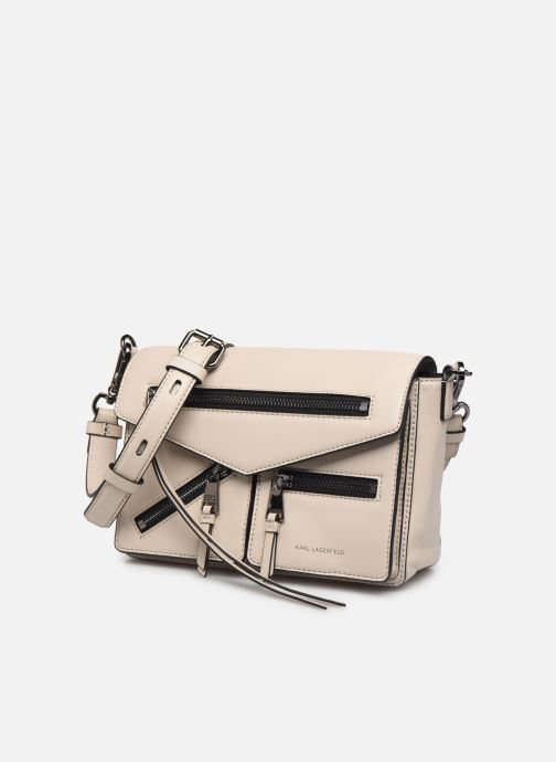 Sacs à main Karl Lagerfeld K/ODINA SMALL CROSSBODY Gris vue portées chaussures