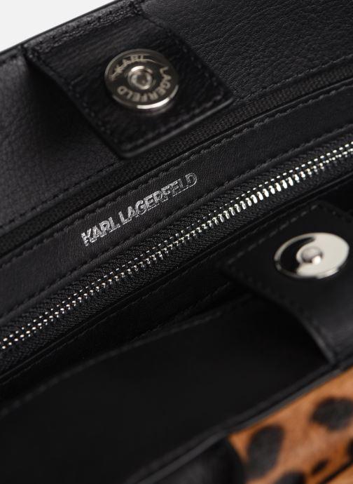 Sacs à main Karl Lagerfeld K/IKON LEOPARD SM TOP HANDLE Noir vue derrière