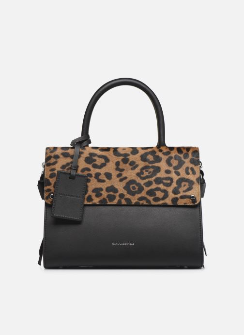 Sacs à main Karl Lagerfeld K/IKON LEOPARD SM TOP HANDLE Noir vue détail/paire