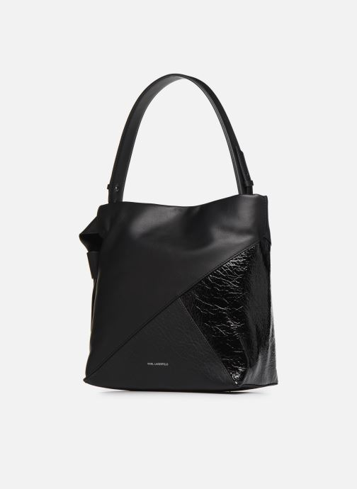 Sacs à main Karl Lagerfeld K/GEO HOBO Noir vue portées chaussures