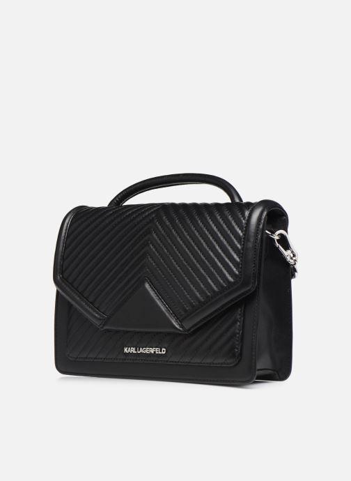 Sacs à main Karl Lagerfeld K/KLASSIC QUILTED SHOULDER BAG Noir vue portées chaussures