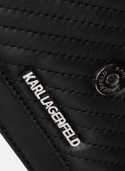Sacs à main Karl Lagerfeld K/KLASSIC QUILTED SHOULDER BAG Noir vue gauche