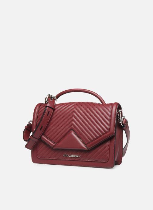 Borse Karl Lagerfeld K/KLASSIC QUILTED SHOULDER BAG Bordò modello indossato