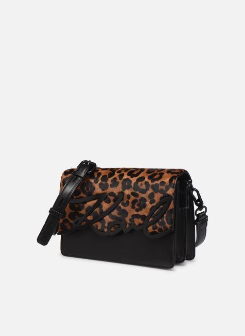 Borse Karl Lagerfeld K/SIGNATURE  SHOULDER BAG Nero modello indossato