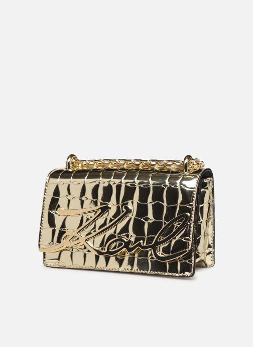 Sacs à main Karl Lagerfeld K/SIGNATURE SMALL SHOULDER BAG Or et bronze vue portées chaussures