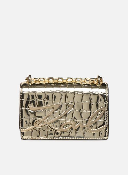 Sacs à main Karl Lagerfeld K/SIGNATURE SMALL SHOULDER BAG Or et bronze vue détail/paire