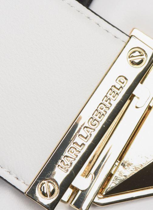 Sacs à main Karl Lagerfeld CHOUPETTE MINAUDIERE Blanc vue gauche
