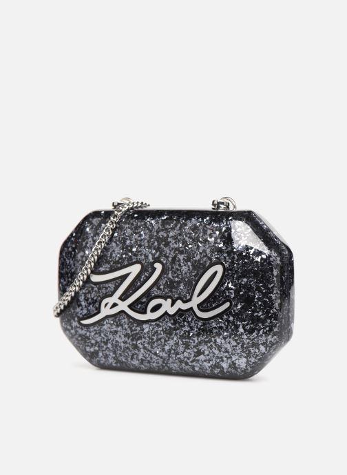 Sacs à main Karl Lagerfeld K/SHINE MINAUDIERE Noir vue portées chaussures
