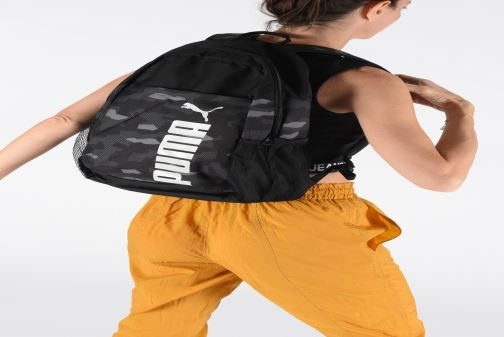 Rucksäcke Puma Style Backpack schwarz ansicht von unten / tasche getragen