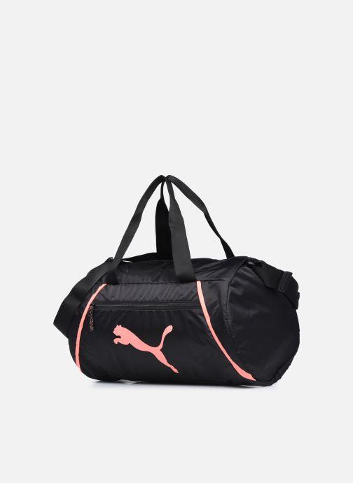 Sporttaschen Puma AT ESS BARREL BAG schwarz schuhe getragen