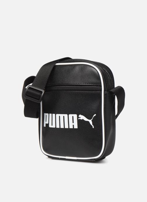 Sacs homme Puma CAMPUS PORTABLE RETRO Noir vue portées chaussures