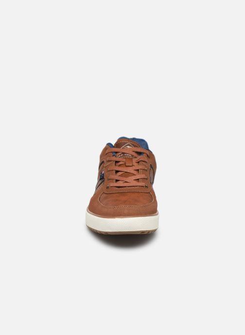 Baskets Roadsign DEBO Marron vue portées chaussures