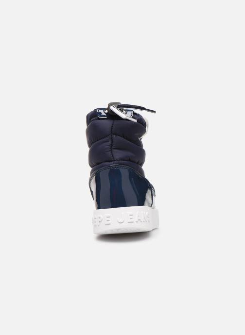 Bottines et boots Pepe jeans Brixton Girl Nylon Bleu vue droite