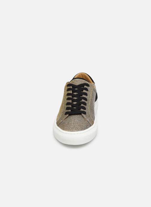 Baskets Canal St Martin EUGENE Or et bronze vue portées chaussures