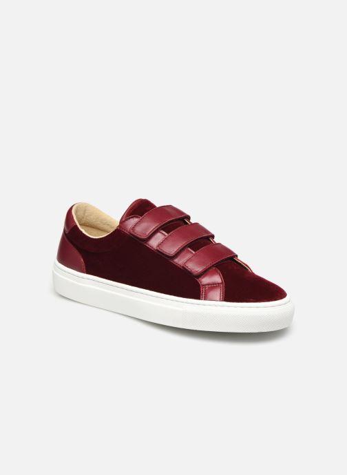 Sneakers Canal St Martin MALTE Bordeaux detaljeret billede af skoene