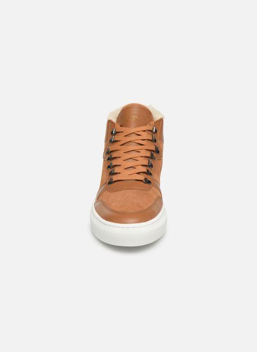 Baskets Canal St Martin LEON Marron vue portées chaussures