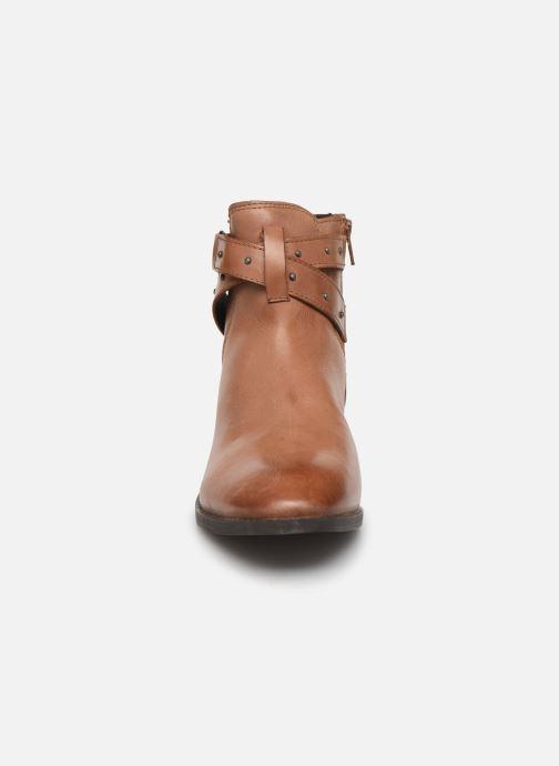 Bottines et boots Esprit 089EK1W019 BESS STRAP BOOT Marron vue portées chaussures