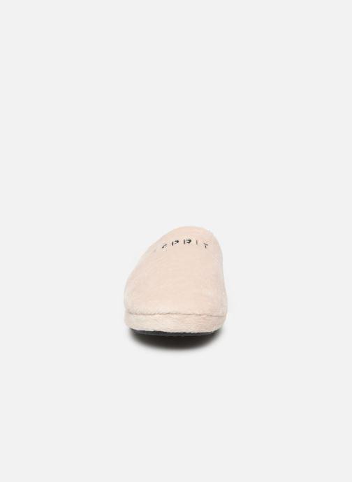Chaussons Esprit 109EK1W026 Blanc vue portées chaussures