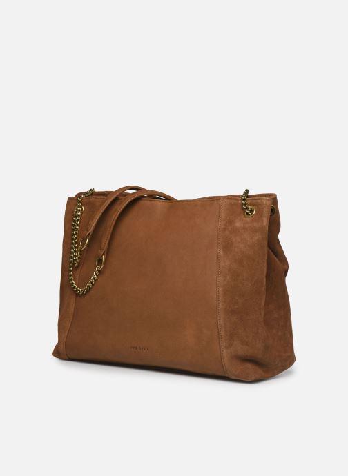 Handtaschen Nat & Nin Hortense braun schuhe getragen