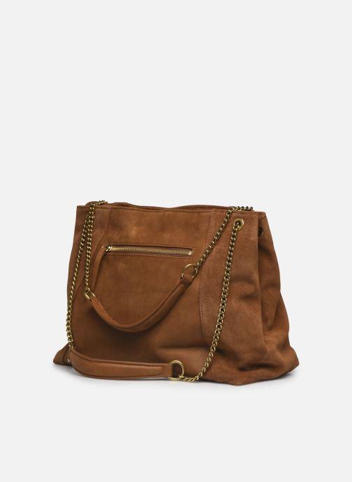 Handtaschen Nat & Nin Hortense braun ansicht von rechts