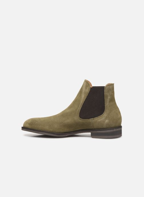 Ankle boots Selected Homme SLHLOUIS SUEDE CHELSEA BOOT B Green front view