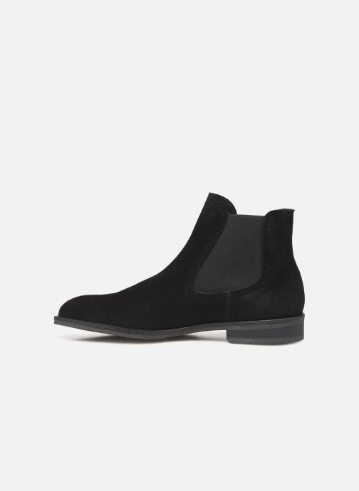 Ankle boots Selected Homme SLHLOUIS SUEDE CHELSEA BOOT B Black front view