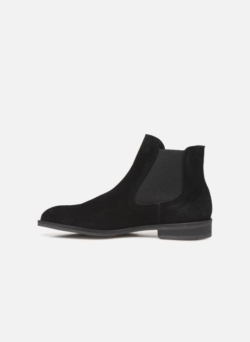 Bottines et boots Selected Homme SLHLOUIS SUEDE CHELSEA BOOT B Noir vue face