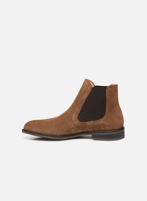 Bottines et boots Selected Homme SLHLOUIS SUEDE CHELSEA BOOT B Marron vue face
