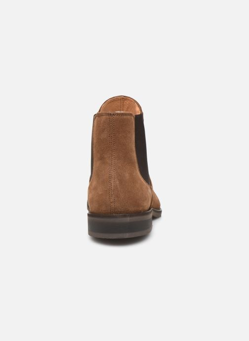 Bottines et boots Selected Homme SLHLOUIS SUEDE CHELSEA BOOT B Marron vue droite