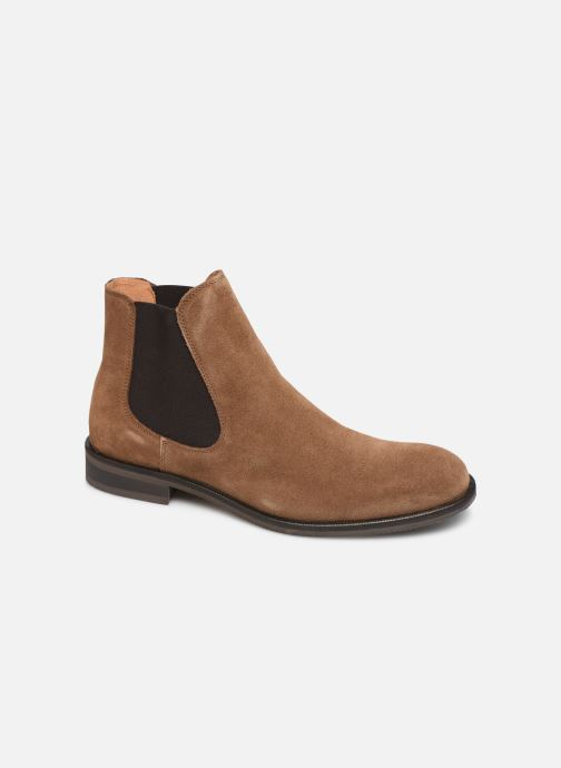 Bottines et boots Selected Homme SLHLOUIS SUEDE CHELSEA BOOT B Marron vue détail/paire
