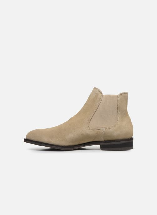 Ankle boots Selected Homme SLHLOUIS SUEDE CHELSEA BOOT B Brown front view