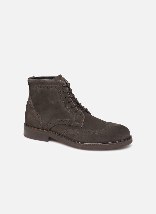 Bottines et boots Selected Homme SLHFILIP SUEDE BROGUE BOOT B Marron vue détail/paire