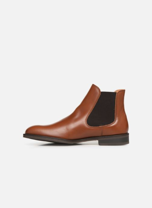 Ankle boots Selected Homme SLHLOUIS LEATHER CHELSEA BOOT B NOOS Brown front view
