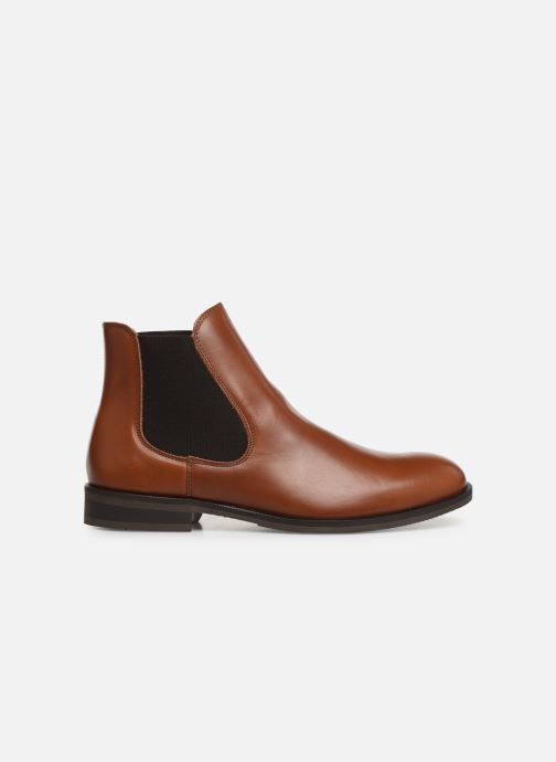 Ankle boots Selected Homme SLHLOUIS LEATHER CHELSEA BOOT B NOOS Brown back view