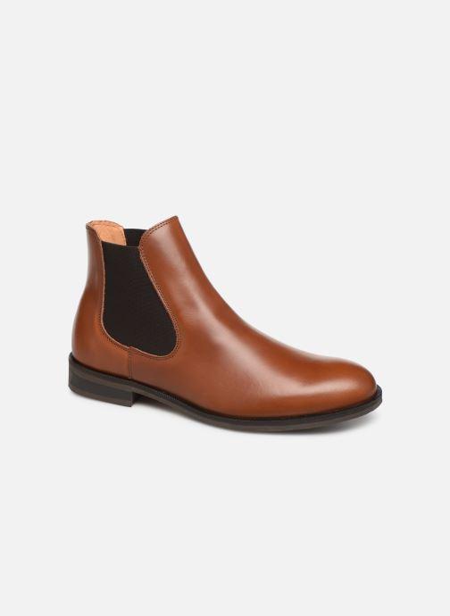 Bottines et boots Selected Homme SLHLOUIS LEATHER CHELSEA BOOT B NOOS Marron vue détail/paire
