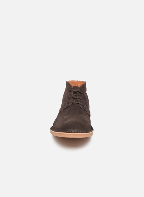 Bottines et boots Selected Homme SLHROYCE DESERT LIGHT SUEDE BOOT W NOOS Marron vue portées chaussures