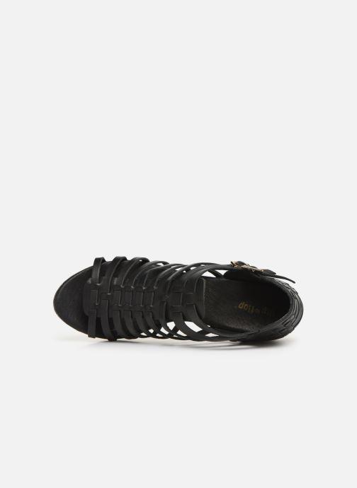Sandales et nu-pieds Flipflop kambhu Noir vue gauche