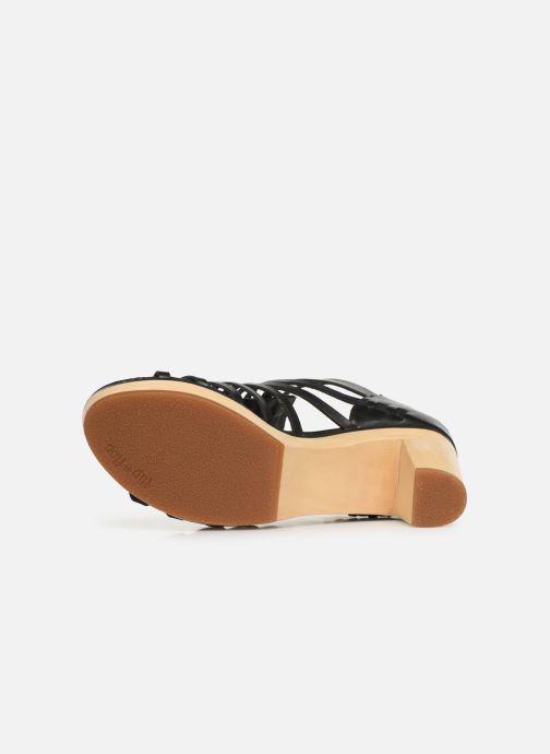 Sandales et nu-pieds Flipflop kambhu Noir vue haut