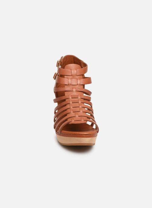 Sandales et nu-pieds Flipflop kambhu Marron vue portées chaussures