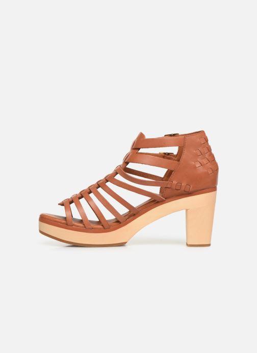 Sandales et nu-pieds Flipflop kambhu Marron vue face