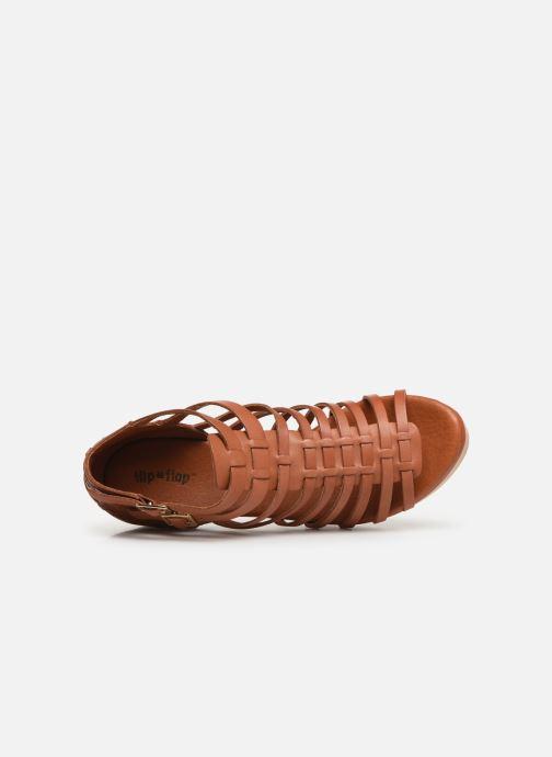 Sandales et nu-pieds Flipflop kambhu Marron vue gauche