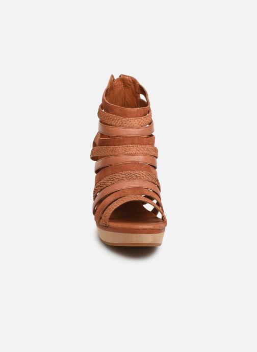 Sandales et nu-pieds Flipflop kumari Marron vue portées chaussures