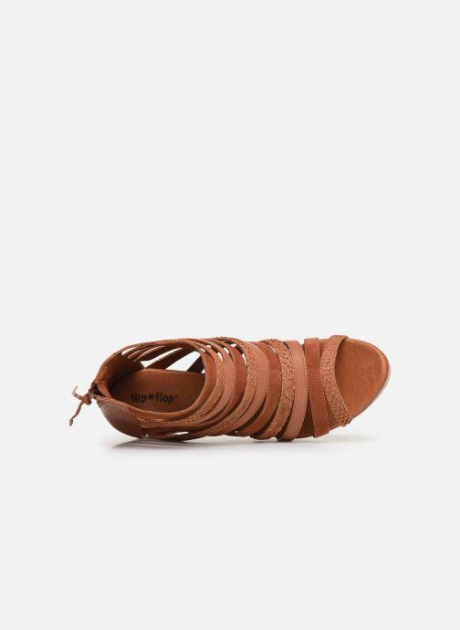 Sandales et nu-pieds Flipflop kumari Marron vue gauche