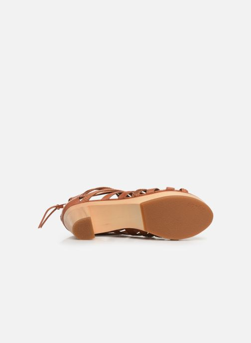 Sandales et nu-pieds Flipflop kumari Marron vue haut