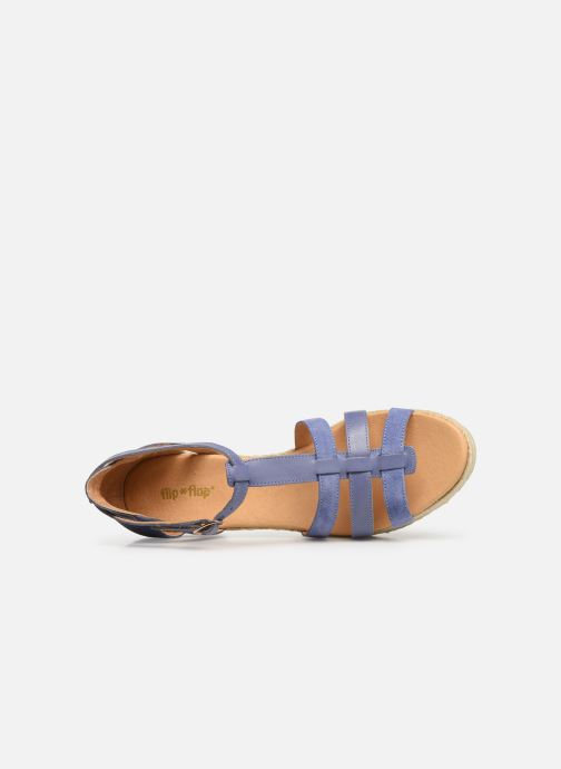 Sandalen Flipflop coconut Blauw links
