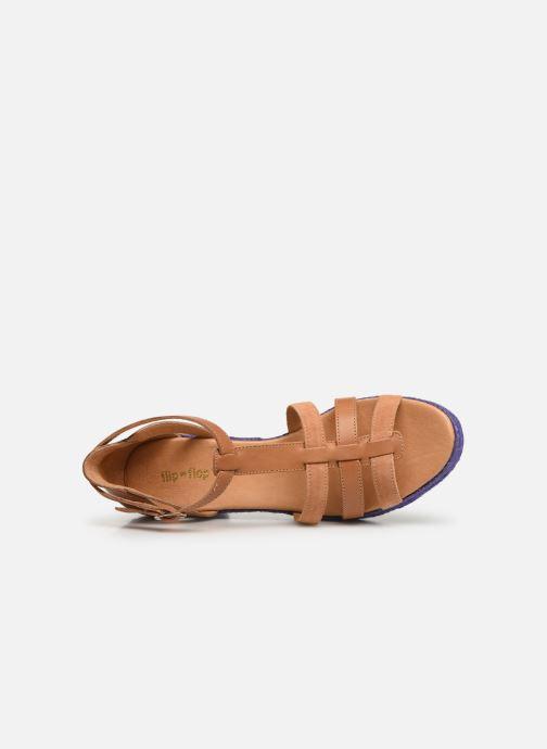 Sandales et nu-pieds Flipflop coconut Marron vue gauche