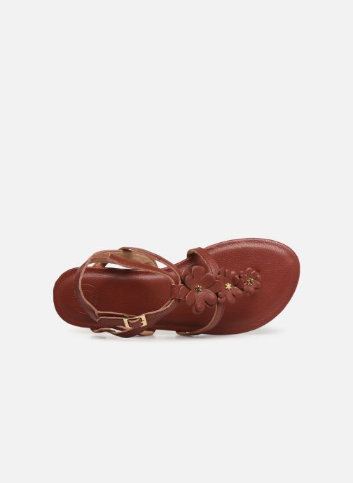 Sandales et nu-pieds Flipflop flor Marron vue gauche
