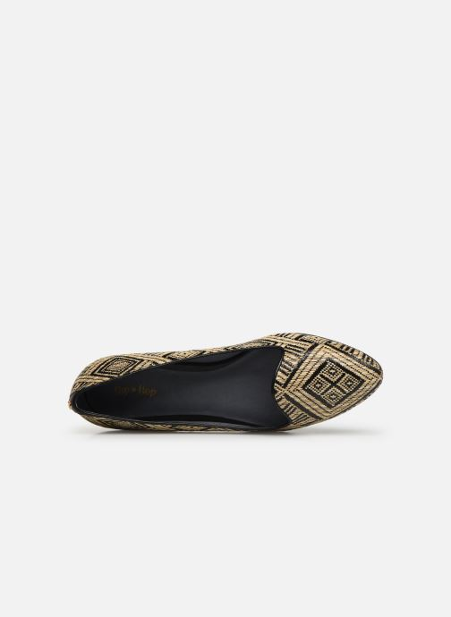 Loafers Flipflop tula Black view from the left