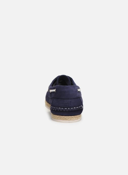 Lace-up shoes TBS Macaron Blue view from the right