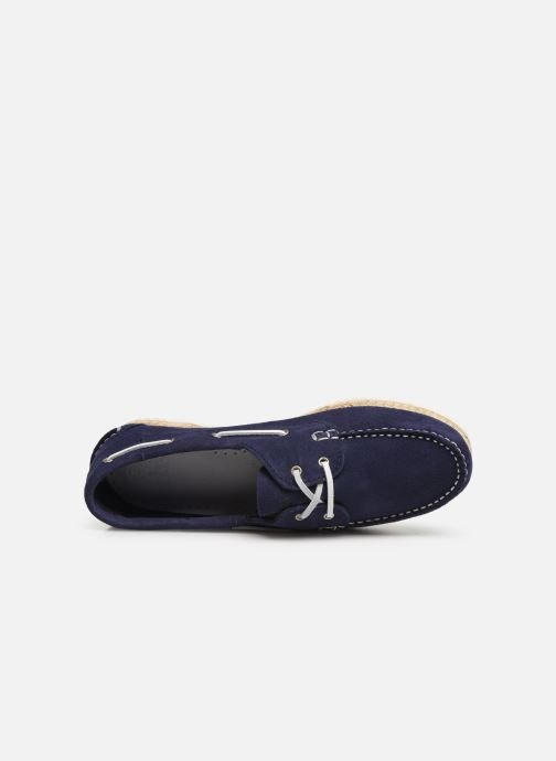Lace-up shoes TBS Macaron Blue view from the left
